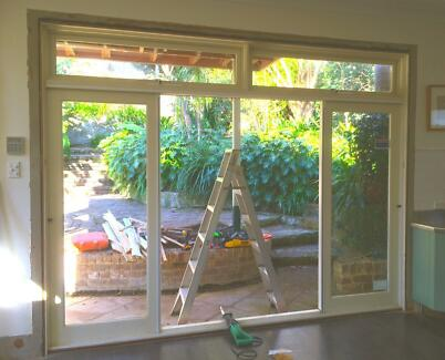 WOODEN FRAME DOORS WITH SECURITY SLIDING GLASS DOORS. Northbridge Willoughby Area Preview