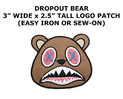 YZY Drop Out Bear X DIY Iron On Embroidered Applique Patch
