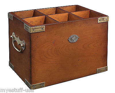 Authentic Models FF101 Six-in-One Wooden Wine Storage Box Container