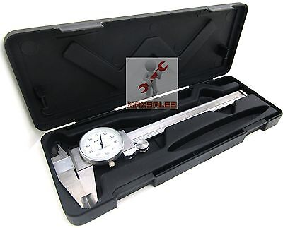 6 Dial Caliper Stainless Steel Shockproof .001 Of One Inch.