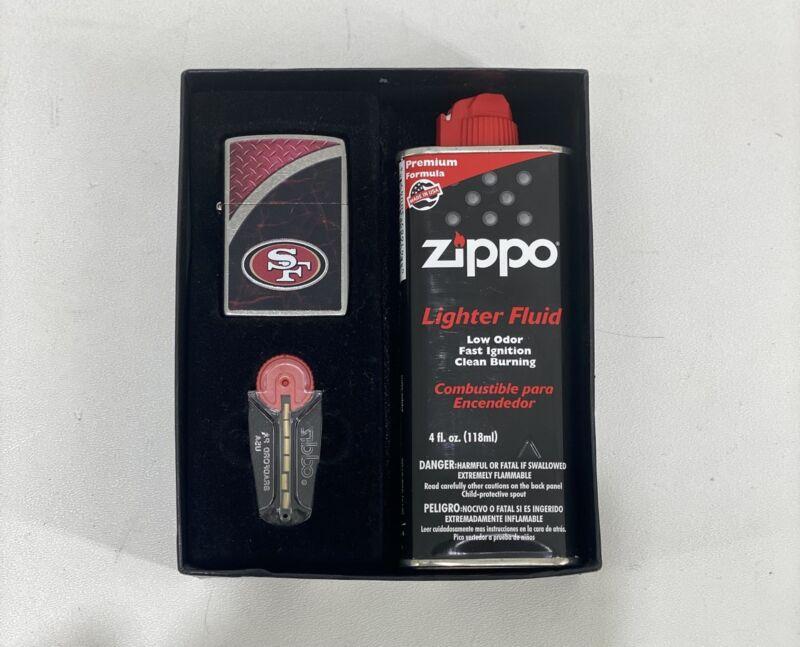 Zippo San Francisco 49ers Lighter Gift Set (I-4572)