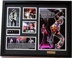 New Michael Jackson Signed Limited Edition Memorabilia Framed