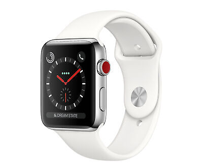 Apple Watch S3 42mm Stainless Steel/Soft White Band GPS + Cellular RES (ML4387)