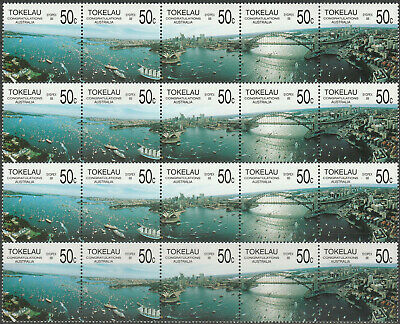 TOKELAU ISLANDS 1988 Congratulations Australia SYDPEX 88 Strip x 4 MNH