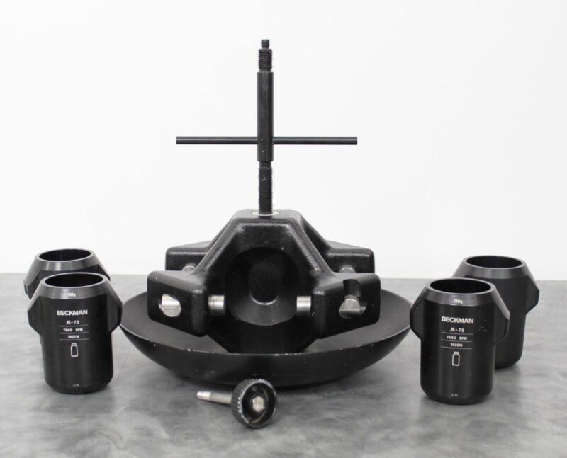 Beckman JS-7.5 Centrifuge Swing Bucket Rotor 7,500 RPM w/ 4 Swing Buckets