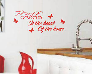Kitchen-is-the-heart-of-home-wall-sticker-quote-vinyl-wall-art-home-decoration