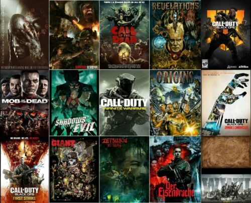 Call of Duty Select Your Favorite Posters Black Ops4 Zombie Origins 21×14 27×40""