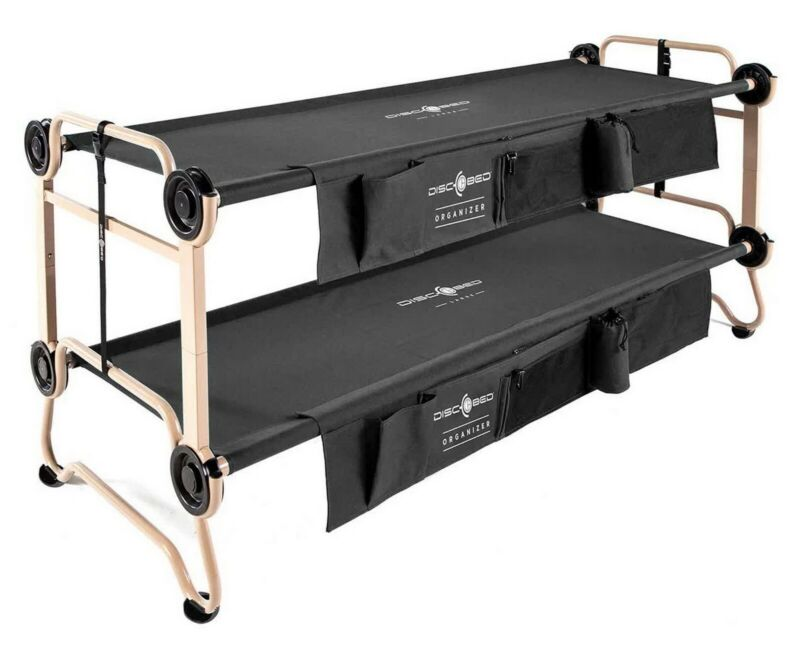 """Portable Camping Bed Cot Stackable Bunk Bed Converts to Bench Indoor Outdoor 82"""""""