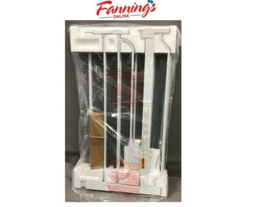 USED Regalo 38.5-Inch Extra Wide Walk Thru Baby Gate 6-Inch Ext-1160 DS