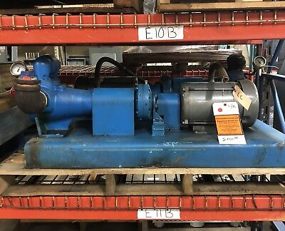 Viking Ak4195 Displacement Pump 2.5 Port Baldor 3 Hp Motor Wgear Reducer.
