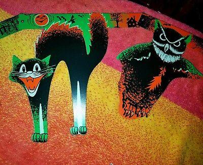 1960 Halloween (NIP-1VINTAGE REPRO 1960 DESIGN BEISTLE-HALLOWEEN GARLAND 8BIG-DIECUTS-6.5FT)