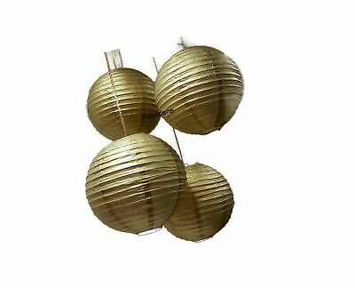 """Chinese Paper Lanterns, Gold, 12"""" Inch Diameter - by Playscene (Pack of 6) (G..."""