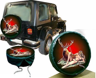 Erotic Diana Jagd Göttin Hirsch Wild Auto SUV Anhänger  Klein  Reserveradüberzug