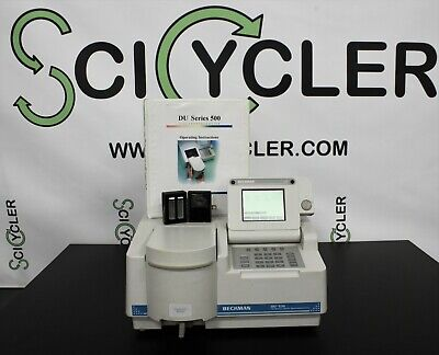 Beckman Du-530 Spectrophotometer Uvvis With Cuvettes And Warranty