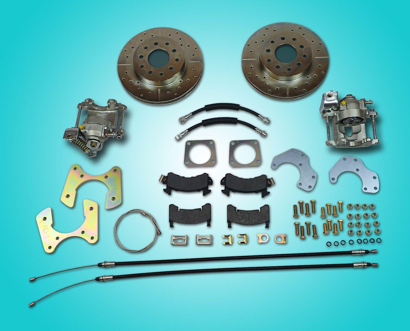 1967 1968 1969 camaro rear disc brake conversion for non staggered shocks