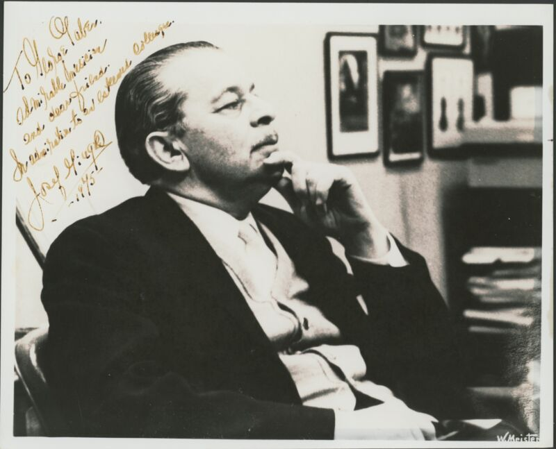 Josef GINGOLD (1909–1995): Signed Photograph (VIOLIN) (VIOLINIST)