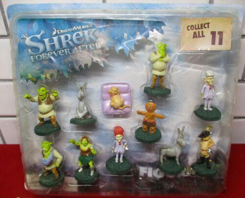 RARE Dreamworks Shrek Forever After Figurines Toy Vending Card Display