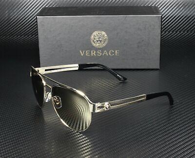 VERSACE VE2165 12525A Pale Gold Lt Brn Mirror Dk Gold 58 mm Women's Sunglasses