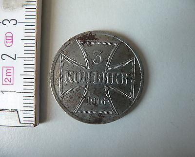 Münze 3 Kopeken Gebiet Oberbefehlshaber Ost 1916