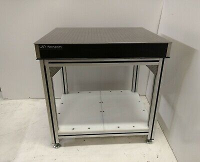 Crated 30x36 Newport Optical Breadboard Table Adjustable Ht 8020 Type Bench