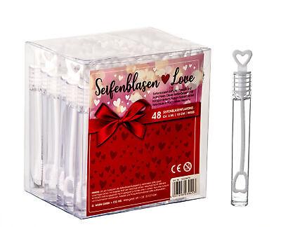 48x Seifenblasen Herz Gastgeschenk für Hochzeit Deko Freudentränen Party Set