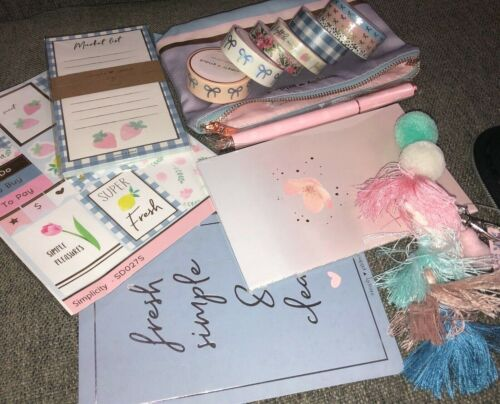 NEW Simply Gilded Grab Bag Lot Bundle Below Retail washi notepad journaling card