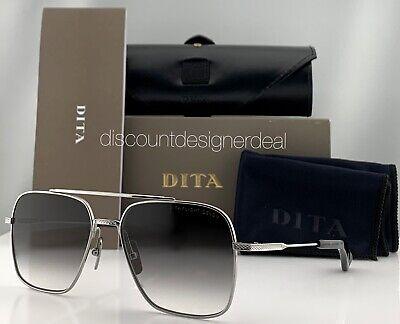 DITA FLIGHT SEVEN Sunglasses Silver Frame Gray Gradient Lens DTS111-57-01 (Dita Flight)