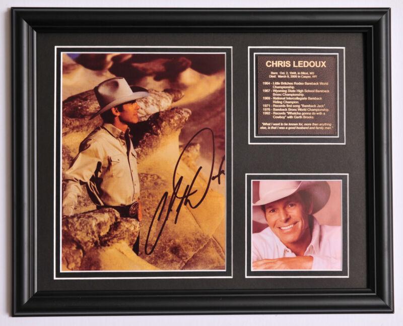 Chris Ledoux Rodeo Champion Cowboy signed photo tribute