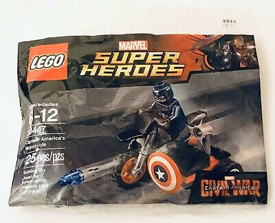 LEGO 30447 Marvel Super Heroes Captain America's Motorcycle Polybag NEW Retired