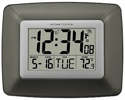 Ws 8008U La Crosse Technology Atomic Digital Wall Clock With Indoor Temperature