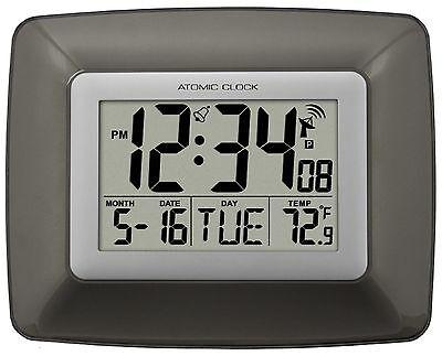 WS-8008U La Crosse Technology Atomic Digital Wall Clock IN Temp - Refurbished