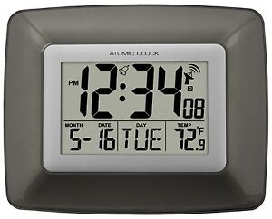 WT-8008U La Crosse Technology Atomic Digital Wall Clock with IN Temperature