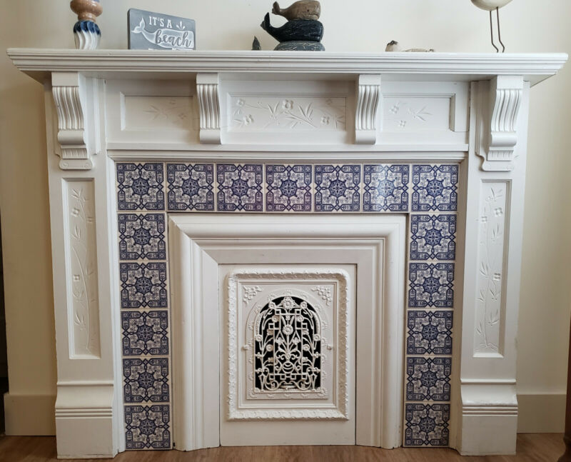 Vintage 19th Century Fireplace Mantel, Must See to Fully Appreciate