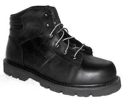 Oblique Safety Toe (NEW THOROGOOD 804-6450 SEMI OBLIQUE BLACK LEATHER 6
