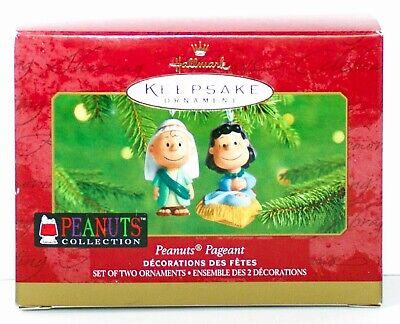 Peanuts Pageant NEW SD Box 2001 Hallmark Nativity Scene Peanuts Ornament Set