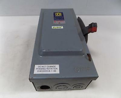 Square D 30amp Single Throw Fusible Safety Switch H 361 Series D2