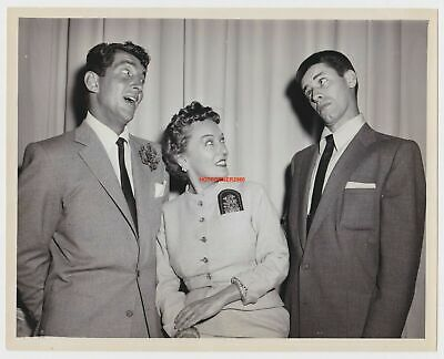 1952 COLGATE COMEDY HOUR JERRY LEWIS DEAN MARTIN & GLORIA SWANSON ORIGINAL PHOTO