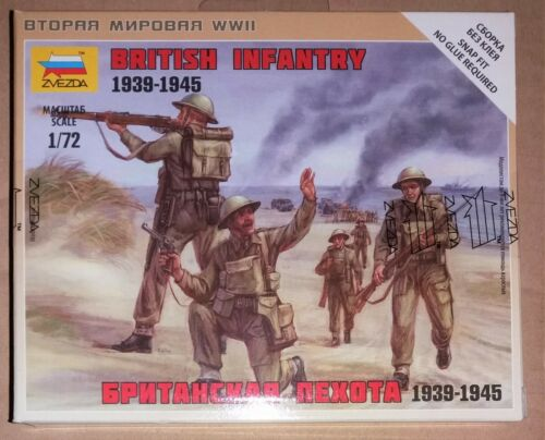 Zvezda+6166+1%3A72+scale+British+Infantry+1939-1945+-+Free+Postage