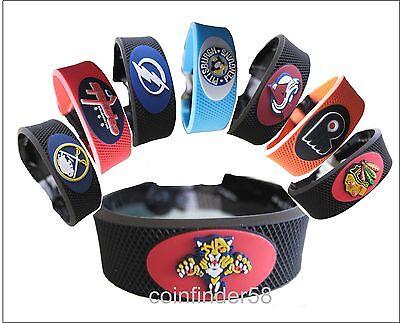 NHL Team Color or Classic Style Hockey Bracelet - Pick Team