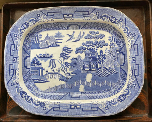 Antique Blue Willow Large Platter