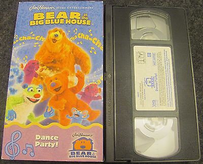VHS Bear in the Big Blue House - Dance Party (VHS, 2002) - Dancing Bear Parties