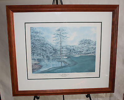 HONOWITZ SIGNED ARTIST PROOF ART PRINT PICTURE GLASS FRAME GOLF SIGNED SEA PINES