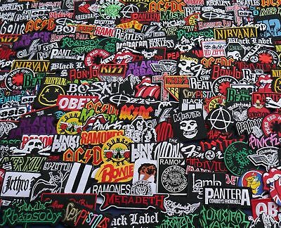 RANDOM Sew Iron On Patches Wholesale Music Rock Band Metal Punk toppe toppa DIY - Punk Wholesale
