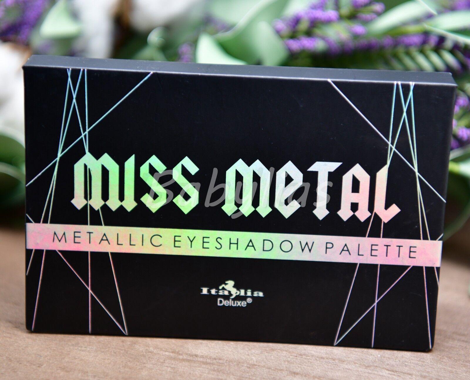 Miss Metals Eyeshadow Palette Shimmer Pigment Metallic Vivid