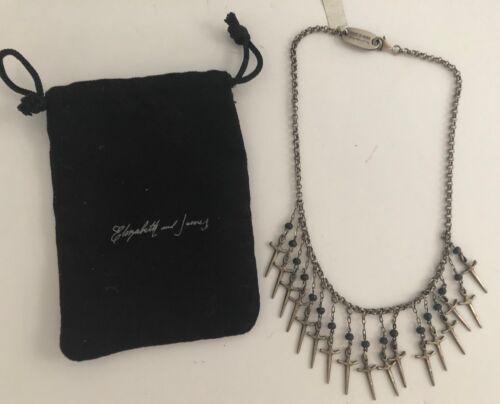 NWT Robert Lee Morris Elizabeth & James Sterling Dagger Necklace W/Pouch $595