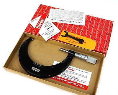 Starrett 436p-4 Outside Micrometer 3-4 .001 Grad With Wrench In Original Box