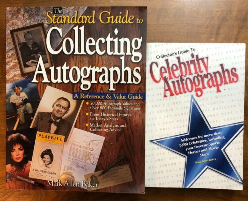 Autograph Collecting Library 2 books Standard Guide to Collecting Autographs