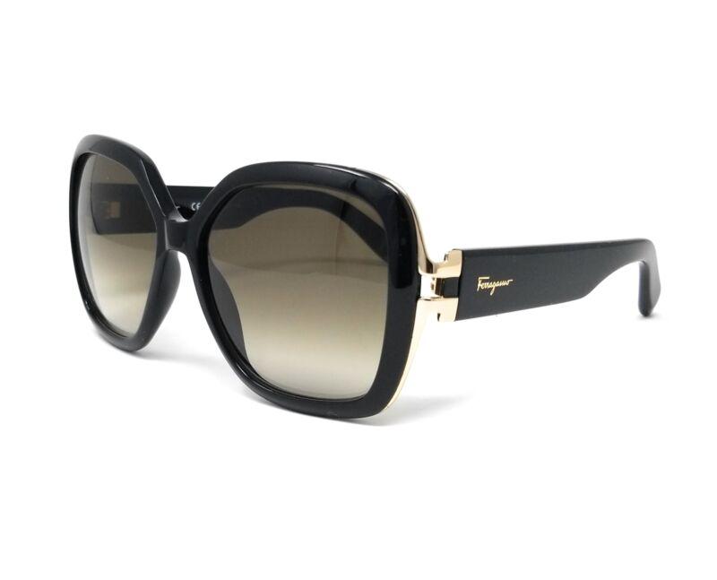 Salvatore Ferragamo Sunglasses SF781S 001 Black Rectangular Female 56x15x135