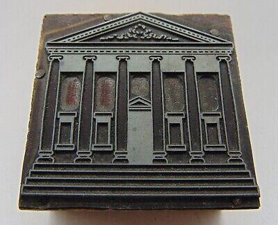 Printing Letterpress Printers Block Looks Building With Large Pillars