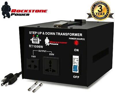 1000 Watt Voltage Converter Transformer Step Up/Down 110V/120V/220V/240V Power